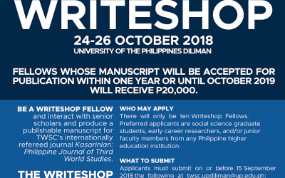 Extended: Call for applications: 2018 TWSC Writeshop